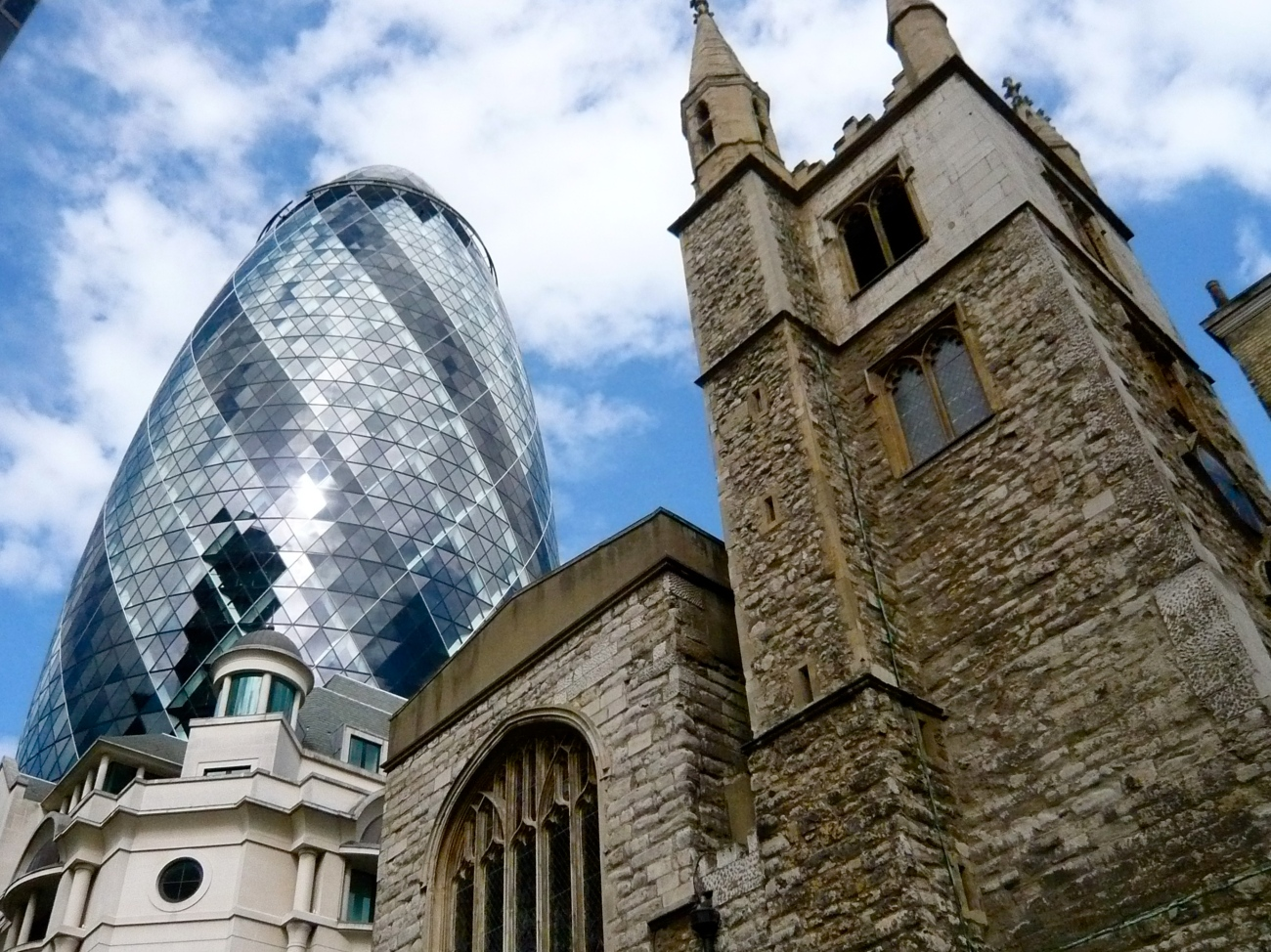 Herry Lawford - The City  The Gherkin and St Andrew Undershaft