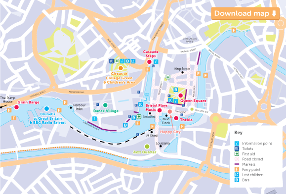 map bristol harbour festival 2015