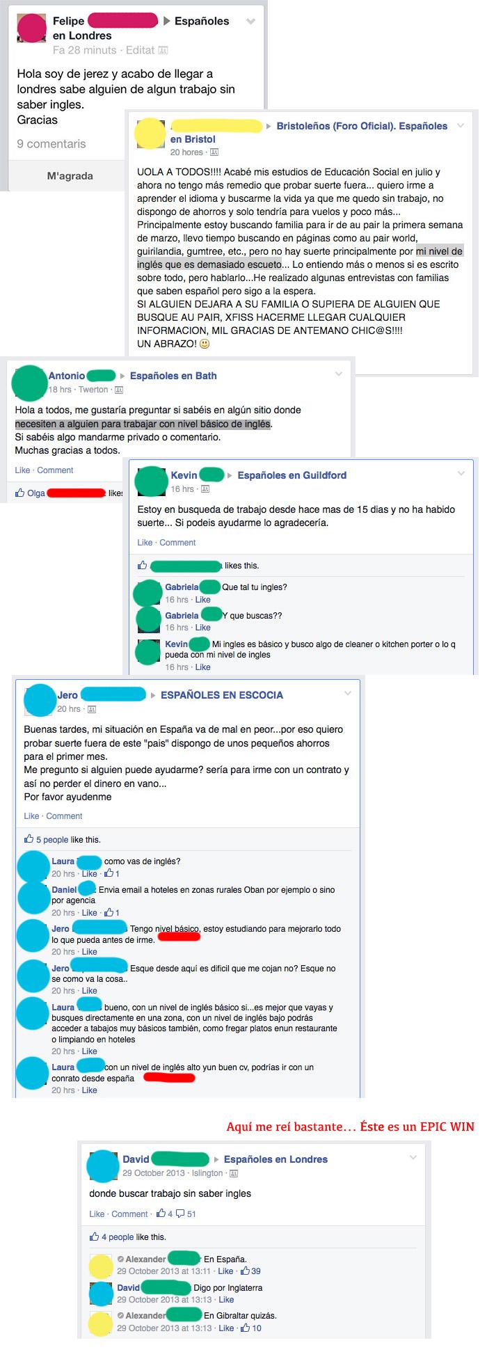 españoles buscando trabajo sin inglés