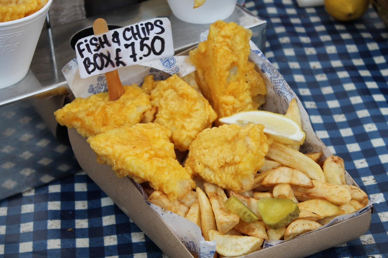 fish and chips box