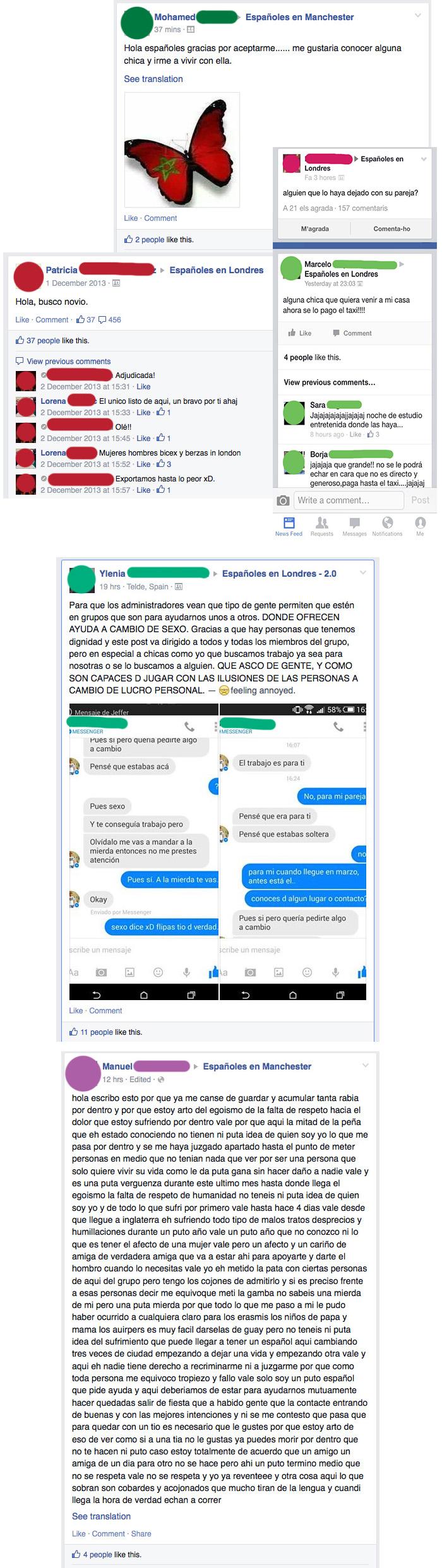 españoles ligando en facebook
