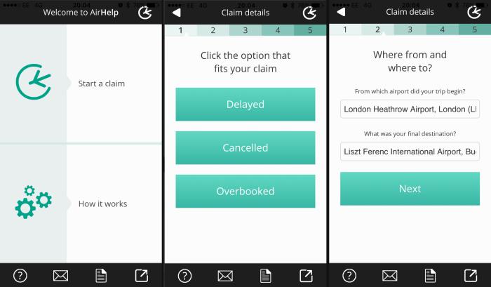 airhelp app screenshots