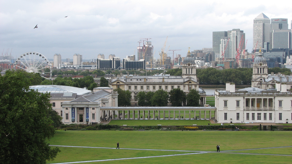 Cristian Bortes - View from Greenwich Park, with the Queen's House and one wing of the National Maritime Museum