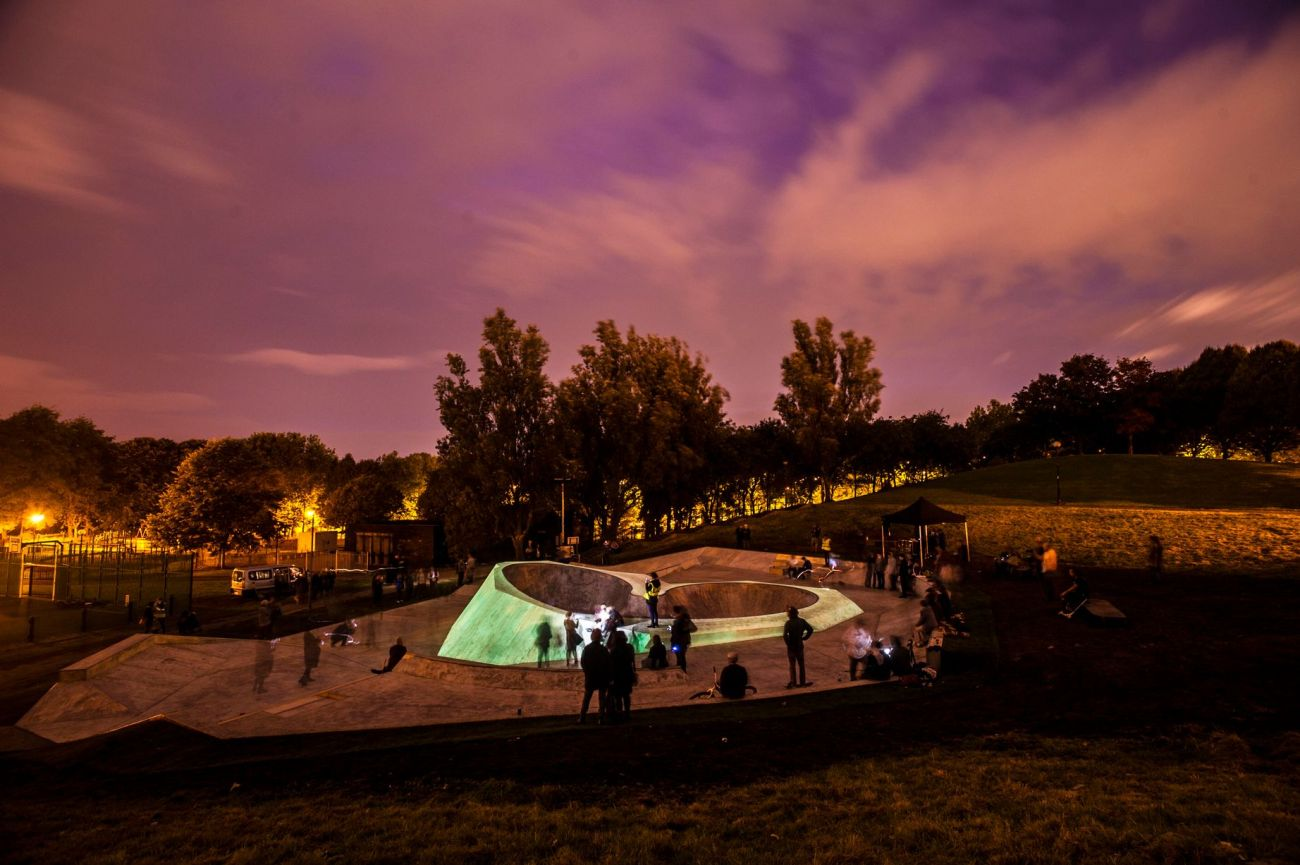 liverpool glow night skate park