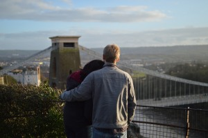 Rowan Gillette-Fussell -- Couple looking over Clifton Bridge