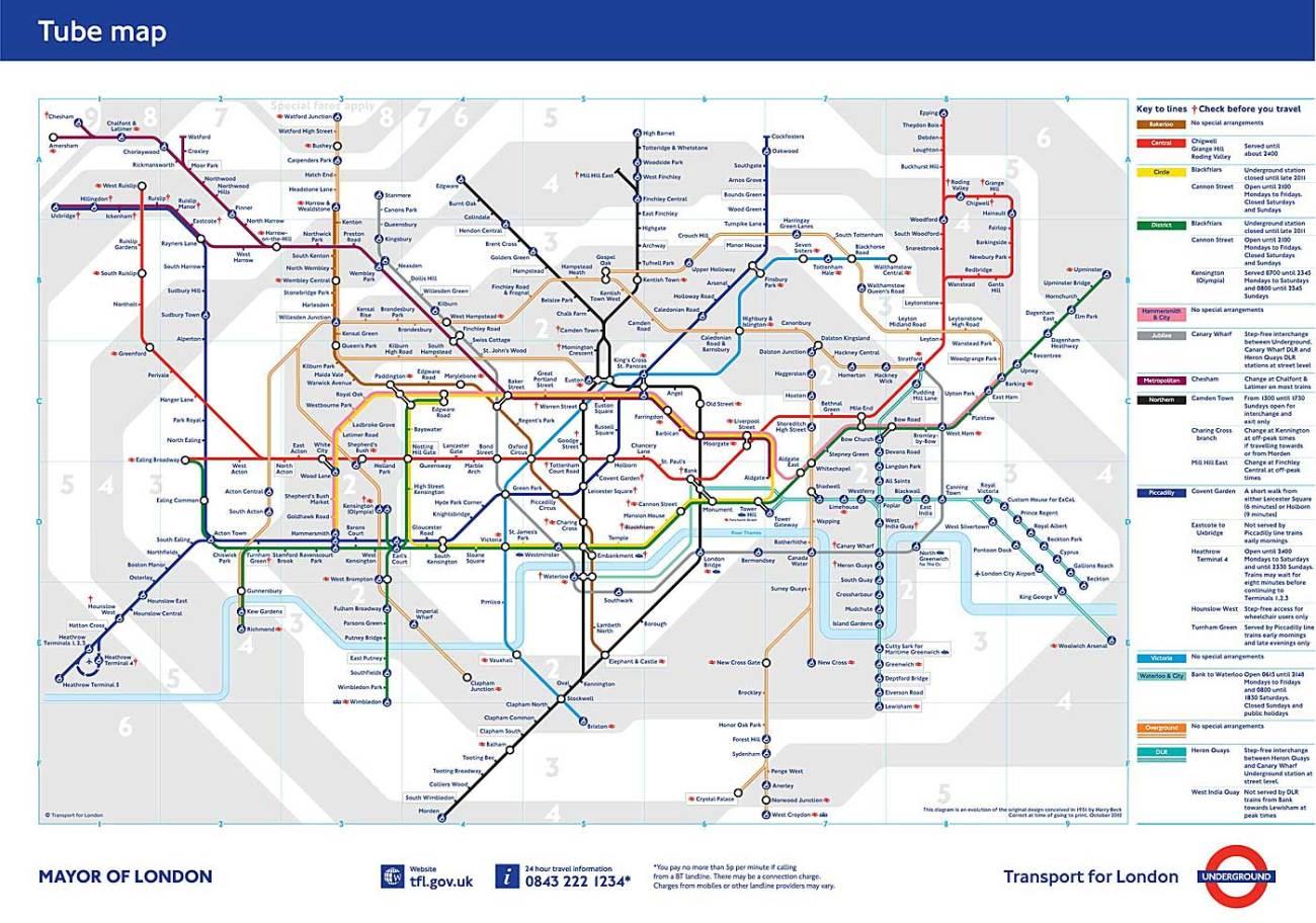 Mapa metro de Londres