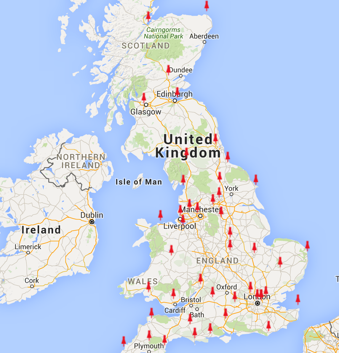 uk cocacola truck map