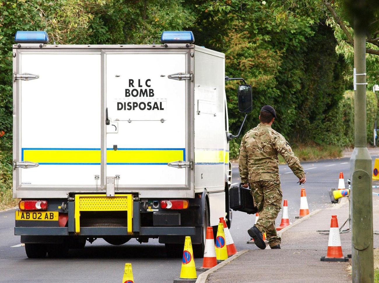 Imagen 1. La policía no encontró ningún explosivo. Imagen, AFP-Getty Images