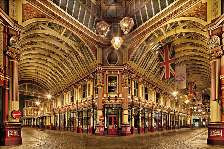 Leadenhall Market, en Londres, también aparece en Harry Potter