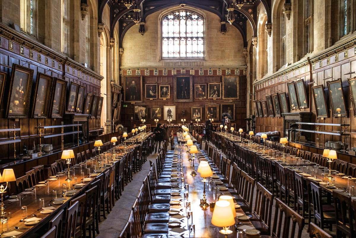 El gran salón de Christ Church, uno de los lugares de rodaje más emblemáticos de Harry Potter