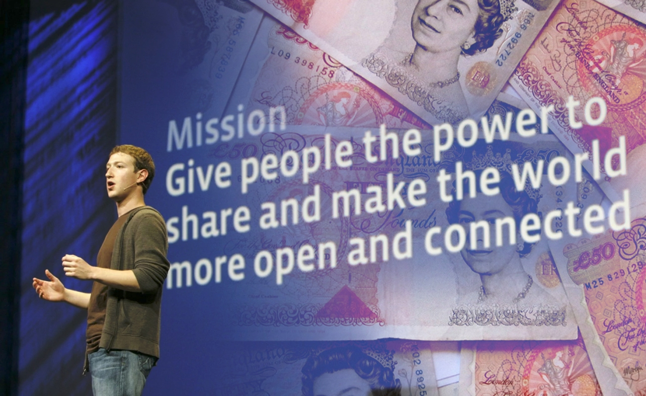 facebook mark zuckerberg money sterling pounds