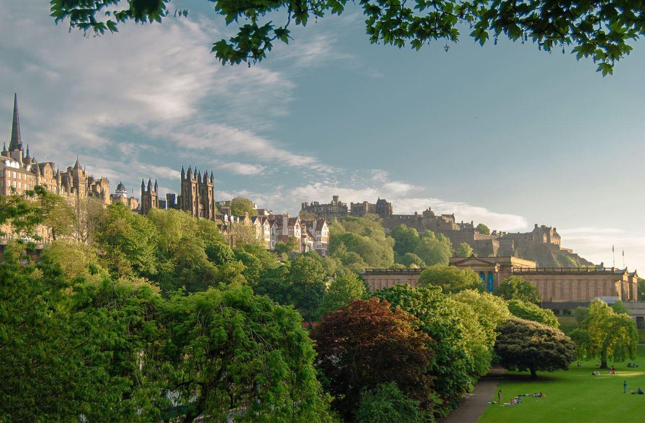 Vistas del Castillo de Edimburgo