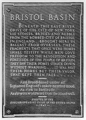 Los restos del bombardeo de Bristol sirvieron para construir una parte de Nueva York