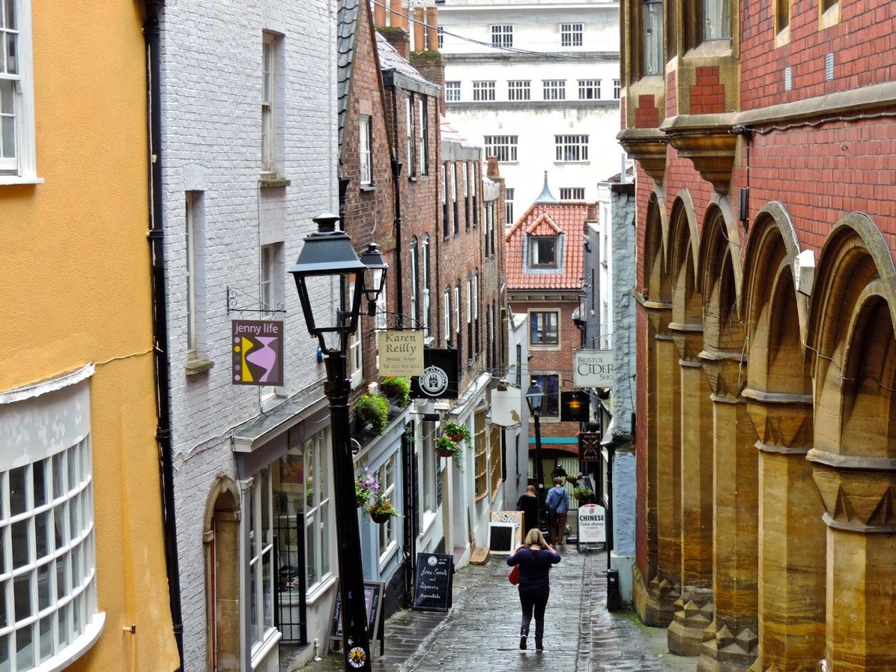 El callejón Christimas Steps, Bristol
