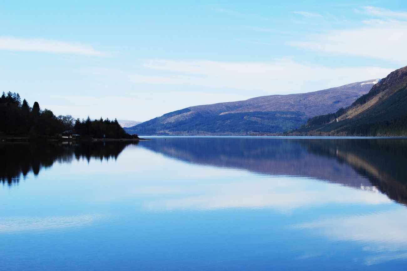 Las bellas Highlands, en Escocia