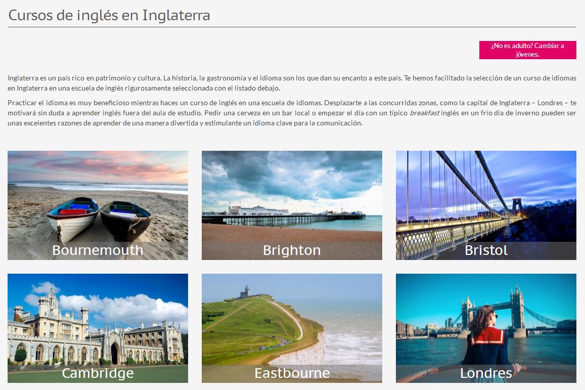 Linguago, una plataforma para buscar cursos de inglés