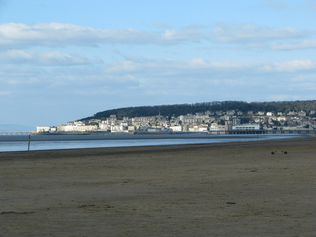 Uphill Slipway Beach, Weston-super-Mare. Playa cerca de Bristol