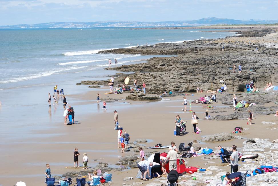 Rest Bay, Porthcawl, Gales. Playa cerca de Bristol