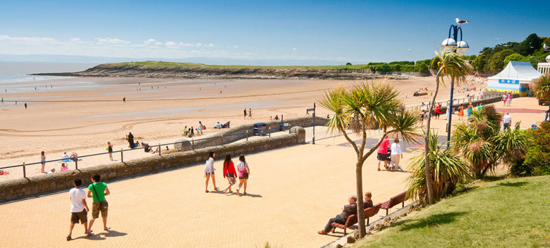 Barry Island, Vale of Glamorgan, Gales. Playa cerca de Bristol