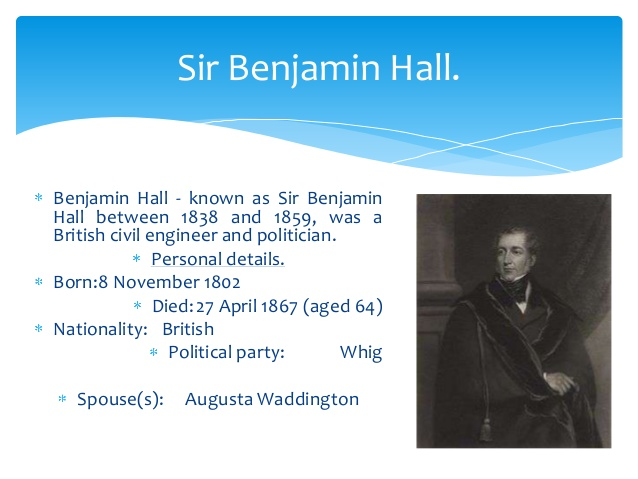 Benjamin Hall, Big Ben