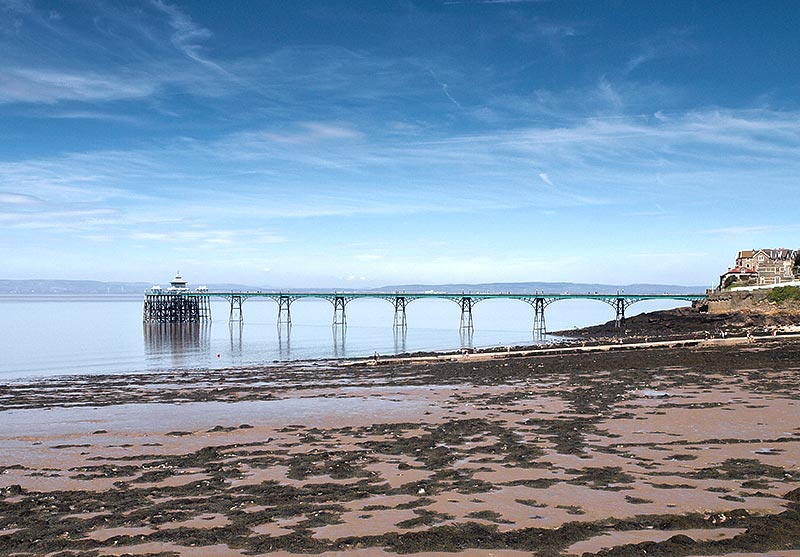 Clevedon Beach, North Somerset. Playa cerca de Bristol