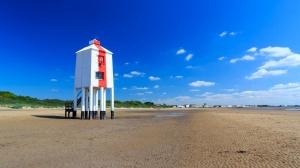 Burnham Beach, Burnham-On-Sea, Somerset. Playa cerca de Bristol