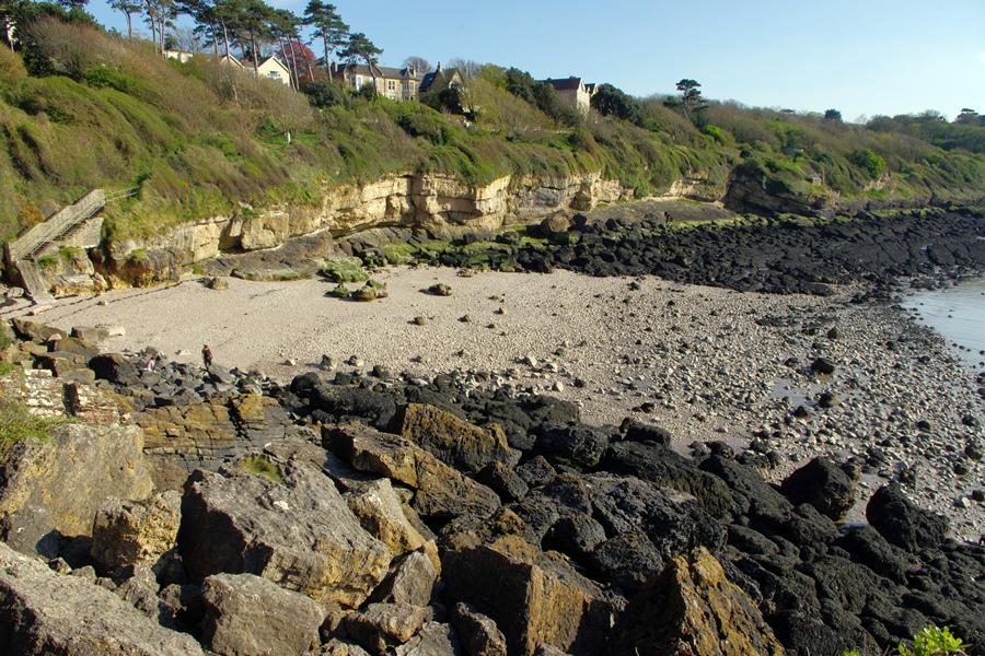 Ladye Bay, Somerset. Playa cerca de Bristol