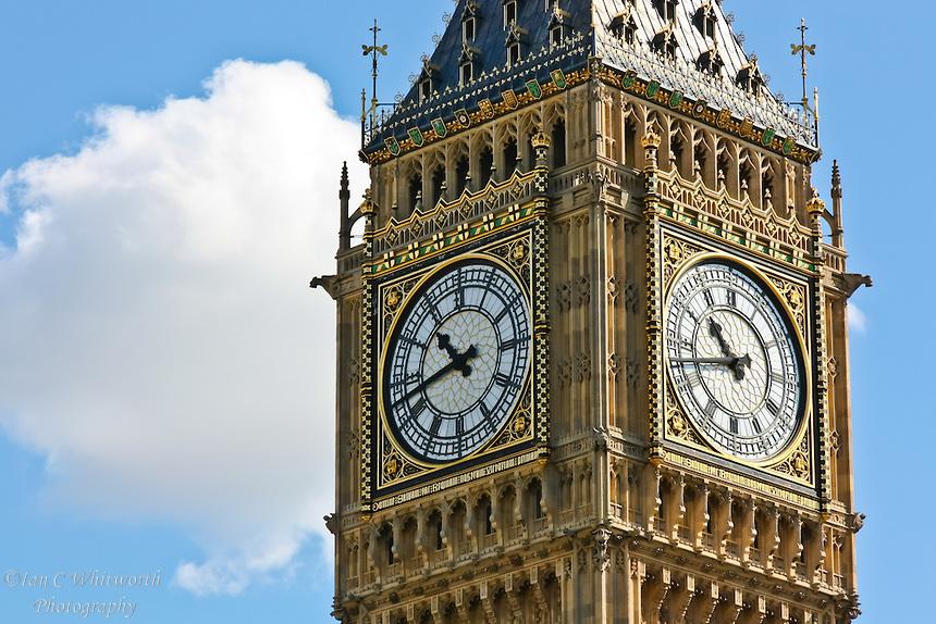 El reloj del Big Ben de Londres