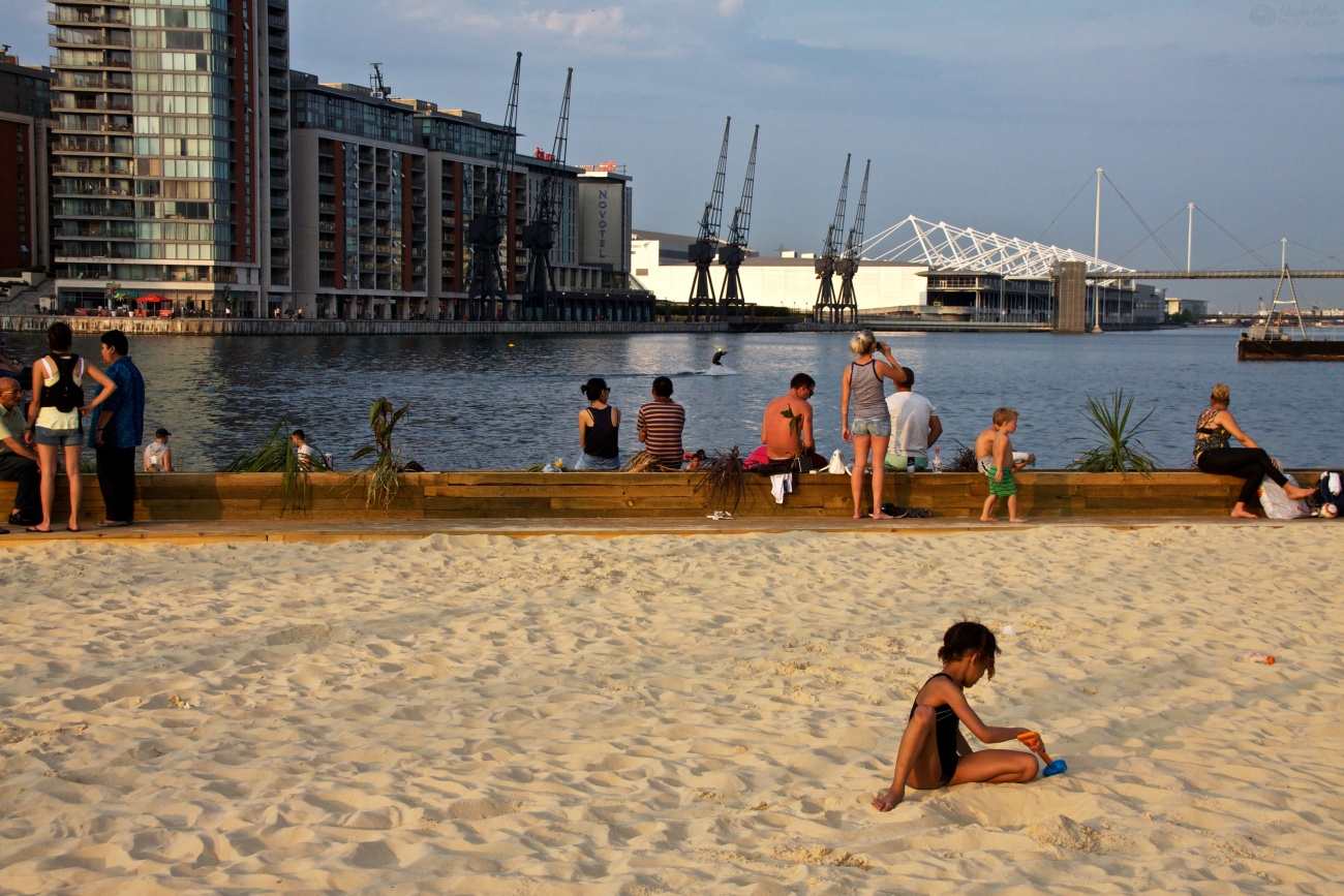 Urban London Beach, Royal Victoria Dock, Londres
