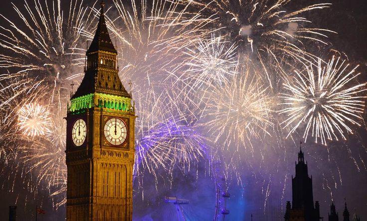 Año Nuevo en el Big Ben de Londres