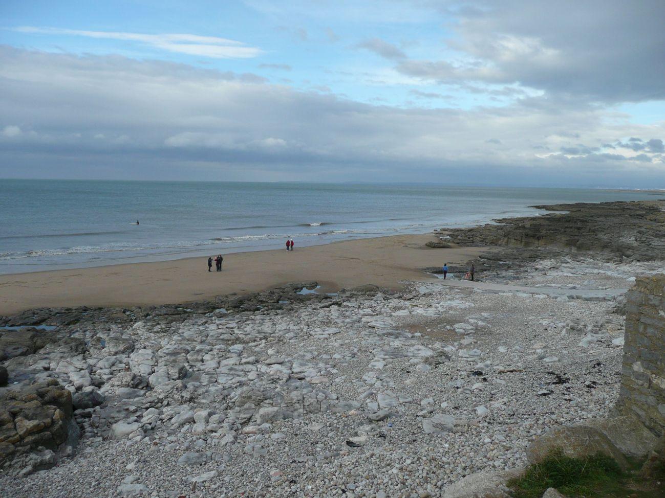 Southerndown, Porthcawl, Gales. Playa cerca de Bristol