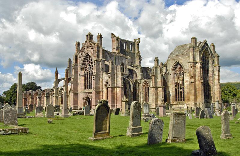 Melrose Abbey, Escocia