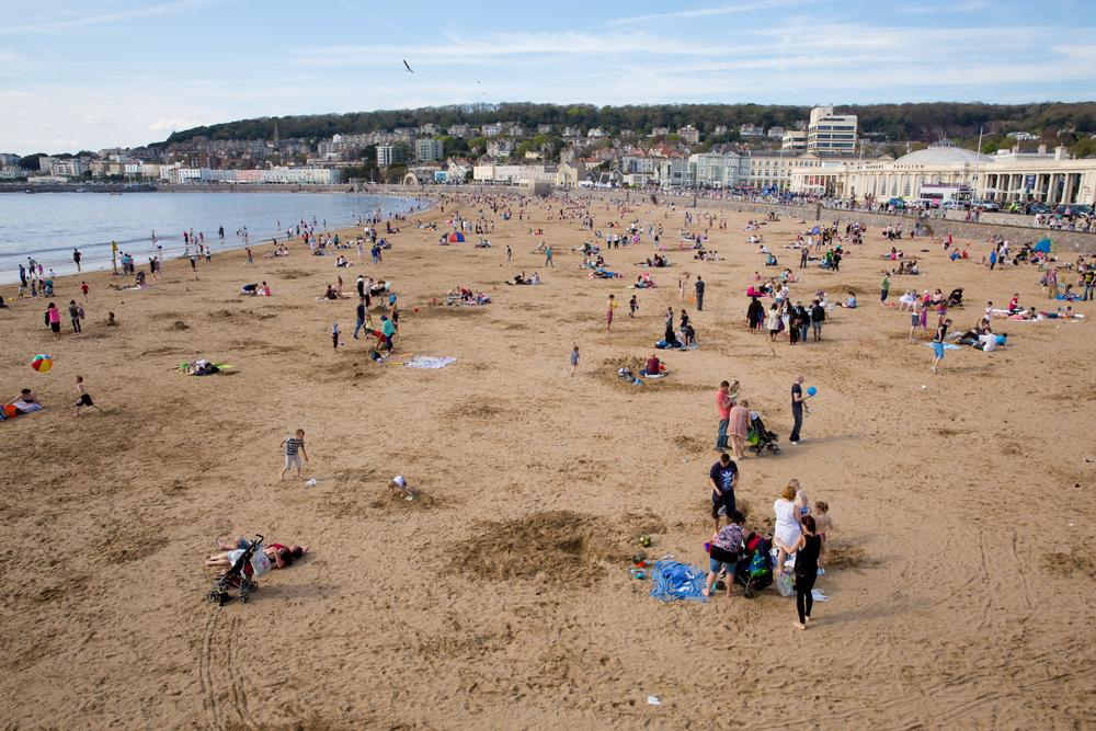 Weston-super-Mare Beach - Main. Playa cerca de Bristol