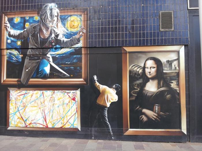 Graffiti galería de arte en Glasgow