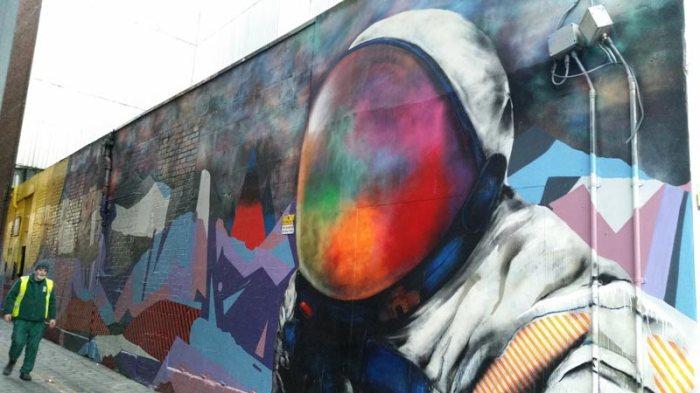Graffiti astronauta Glasgow