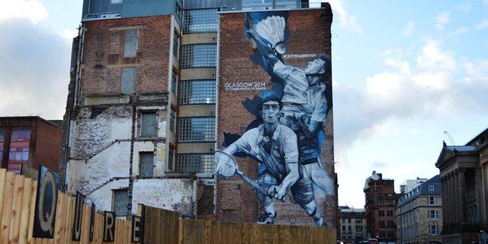 Graffiti badminton Glasgow
