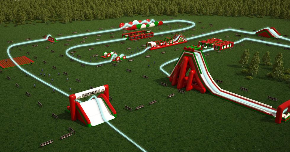 La carrera de obstáculos inflables más grande del mundo, en Bristol