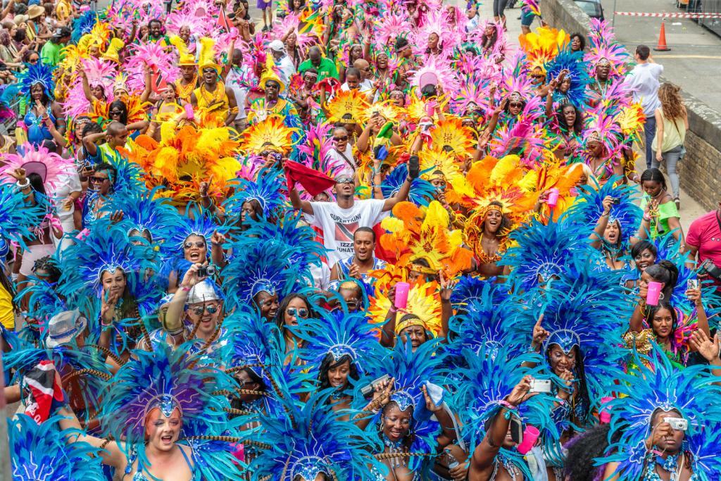 Desfile anual del Notting Hill Carnival, en Londres