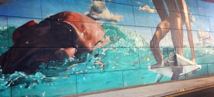 Graffiti nadador Glasgow