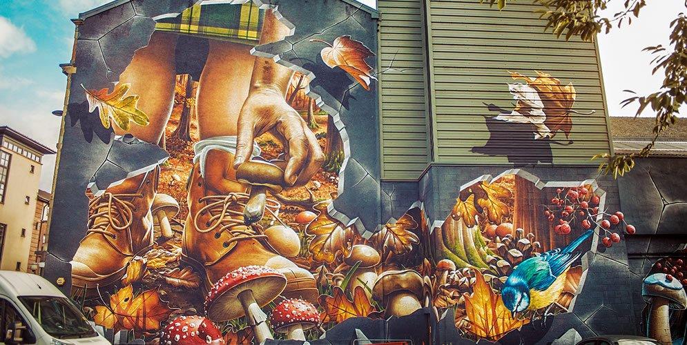 Graffiti otoño Glasgow