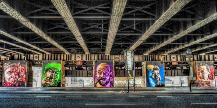 Graffiti cinco caras Glasgow