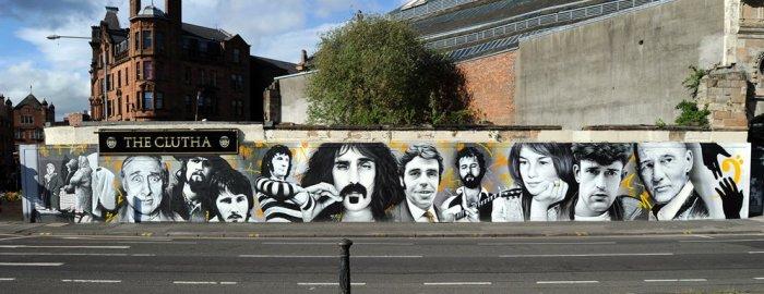 Graffiti de famosos en Glasgow