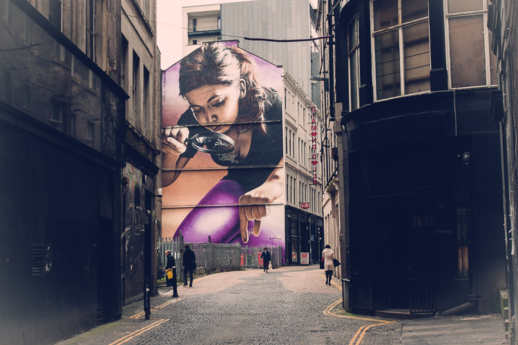 Graffiti chica gigante, Glasgow
