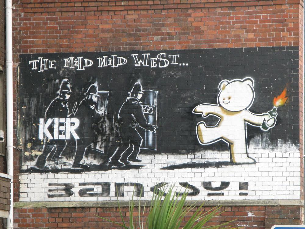Graffiti de Banksy en Stokes Croft