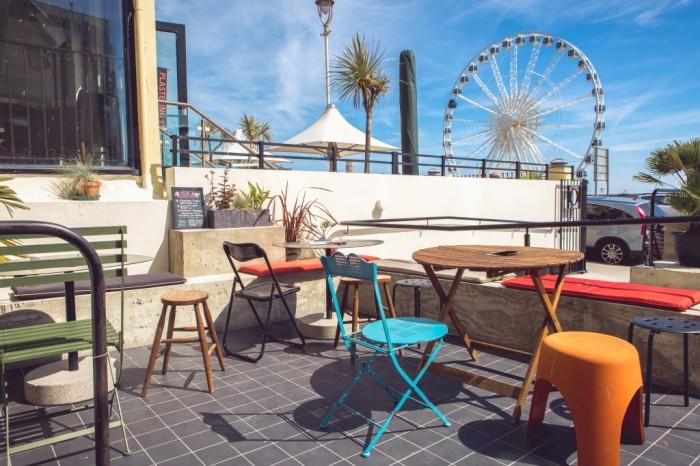 La terraza de Patterns, en Brighton