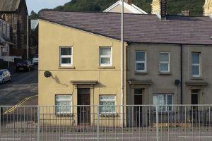 Casa de Swansea que se parece a Hitler