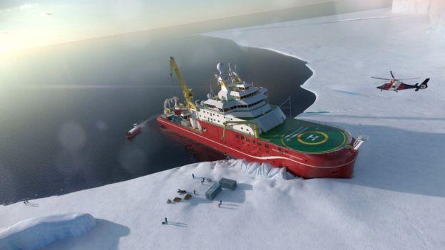 Una imagen de cómo probablemente será este barco