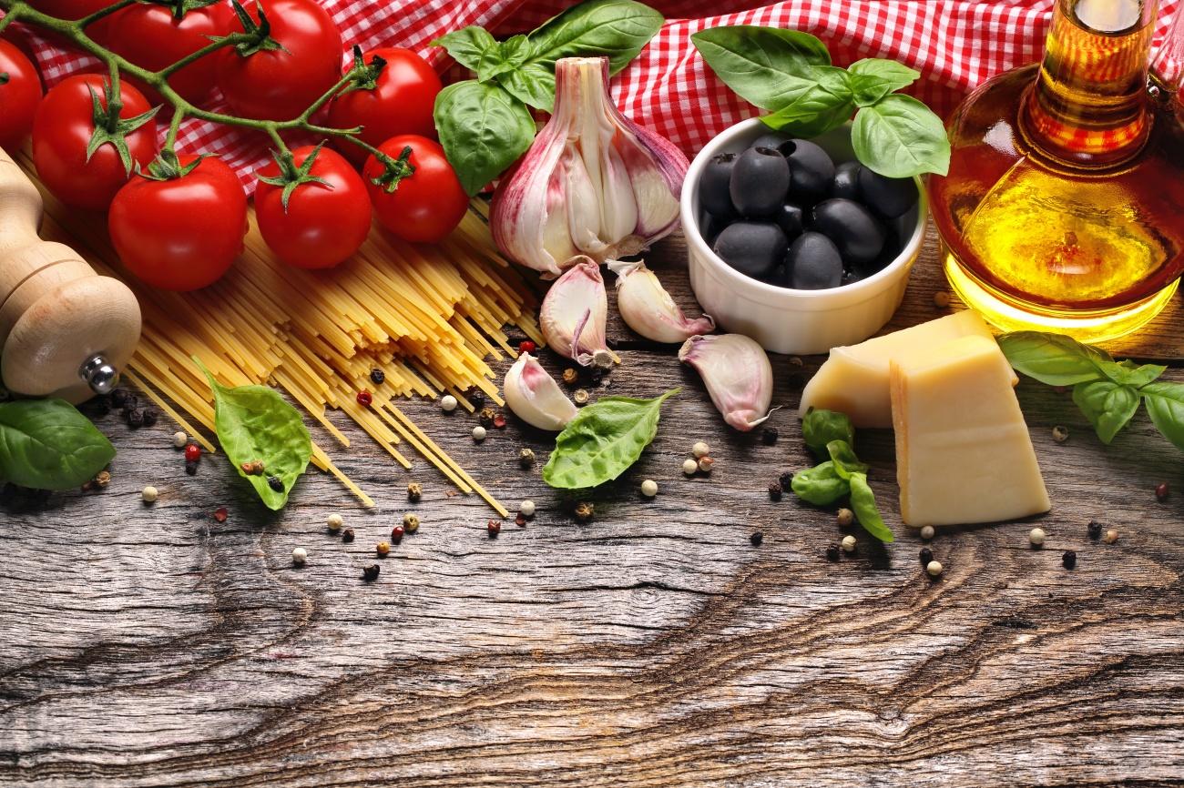 Alimentos típicos de la dieta mediterránea