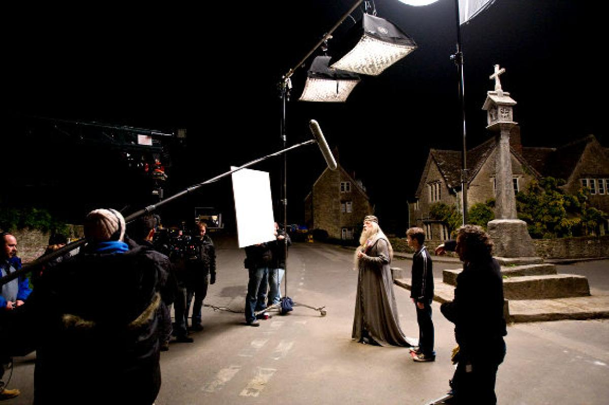 Rodando una escena de Harry Potter en los estudios Pinewood / NY Daily News