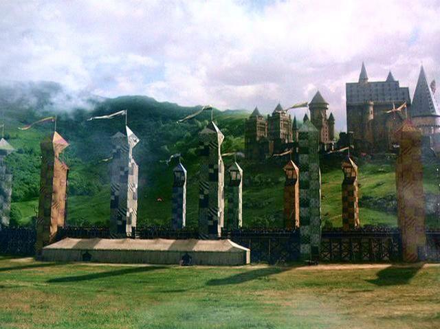 """El campo de Quidditch en """"Harry Potter y la Piedra Filosofal"""""""